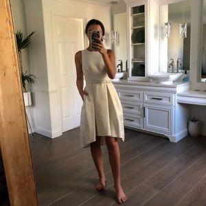 WHBM White high low Dress